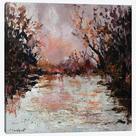 Pink Waters Canvas Print #LDT306} by Pol Ledent Canvas Artwork