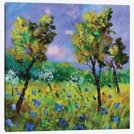 Spring Near My Home Canvas Print #LDT307} by Pol Ledent Canvas Wall Art