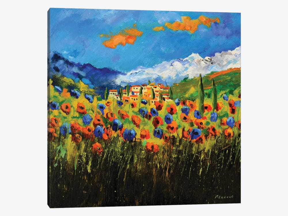 Poppies In Tuscany by Pol Ledent 1-piece Art Print