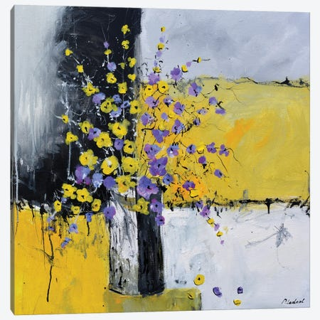 Still Life Yellow And Purple Canvas Print #LDT322} by Pol Ledent Canvas Print