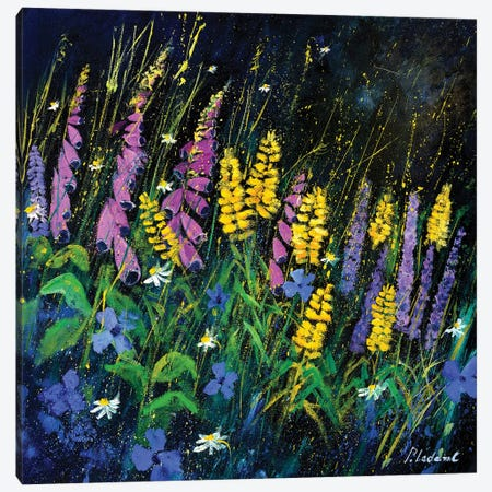 Garden Flowers Canvas Print #LDT33} by Pol Ledent Canvas Art
