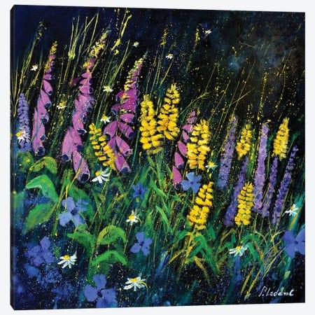 Garden Flowers Canvas Print #LDT33} by Pol Ledent Canvas Art