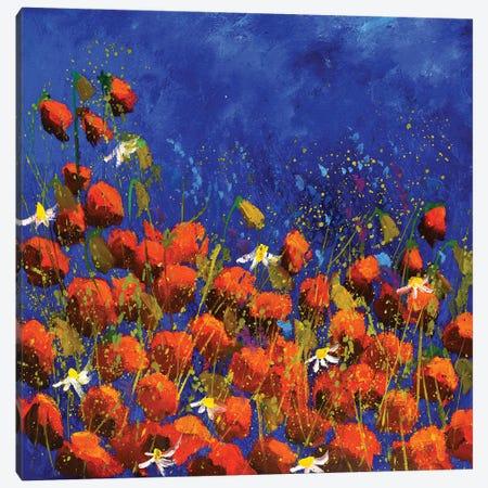 Red Poppies 6824 Canvas Print #LDT340} by Pol Ledent Canvas Art Print
