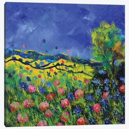 Fieldflowers Canvas Print #LDT34} by Pol Ledent Art Print