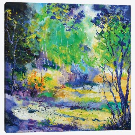 Happy Clearing Canvas Print #LDT36} by Pol Ledent Art Print