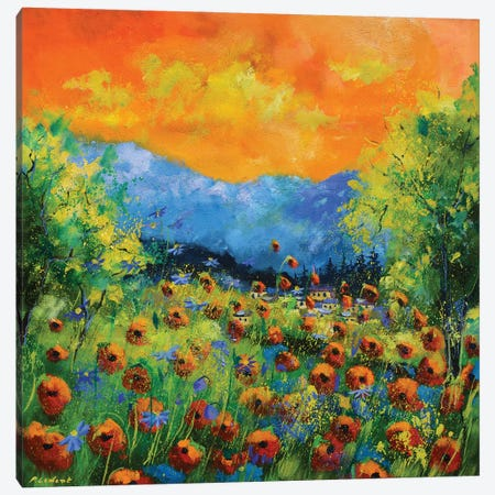 Red Poppies Canvas Print #LDT39} by Pol Ledent Canvas Art