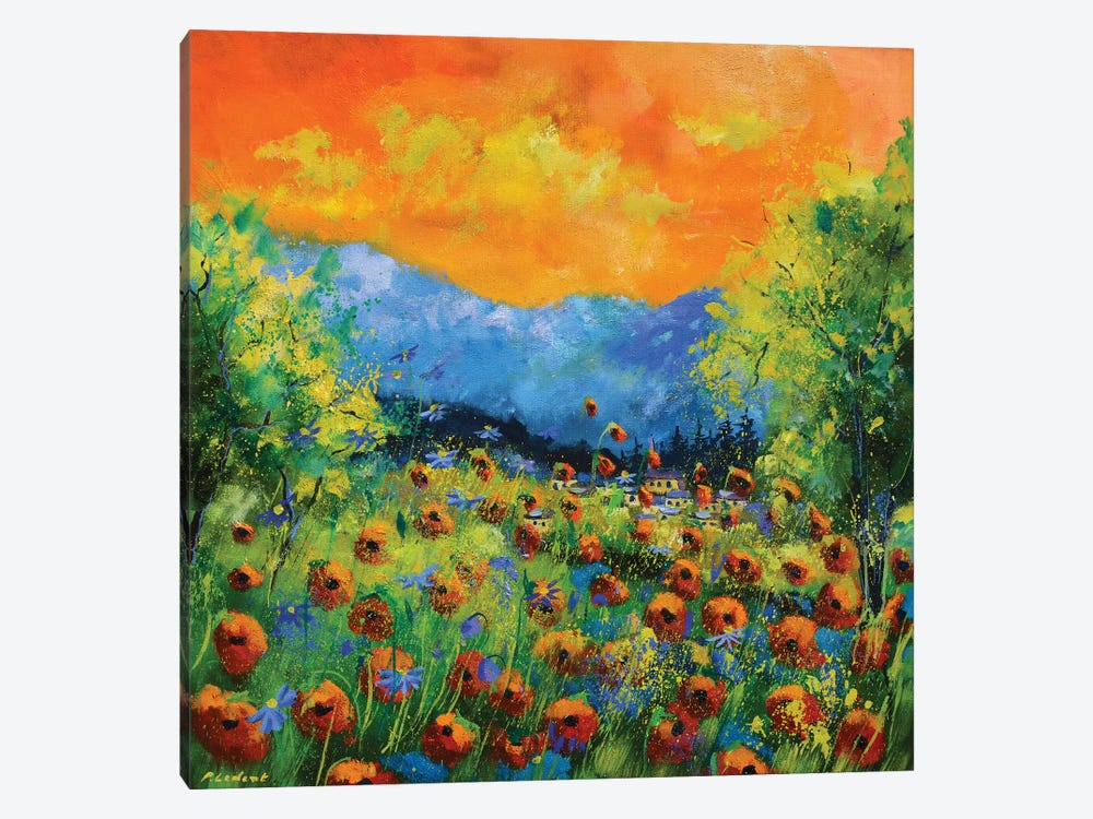 Red Poppies by Pol Ledent 1-piece Canvas Art