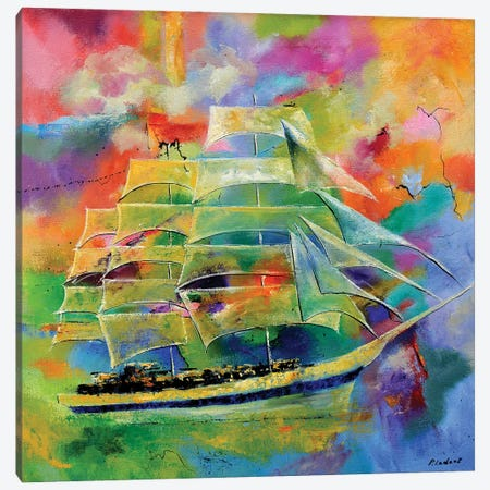 Sailing Canvas Print #LDT41} by Pol Ledent Art Print