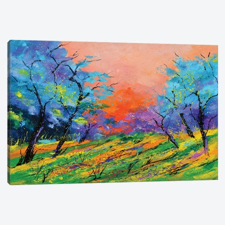 Happy Sunrise Canvas Print #LDT48} by Pol Ledent Canvas Print