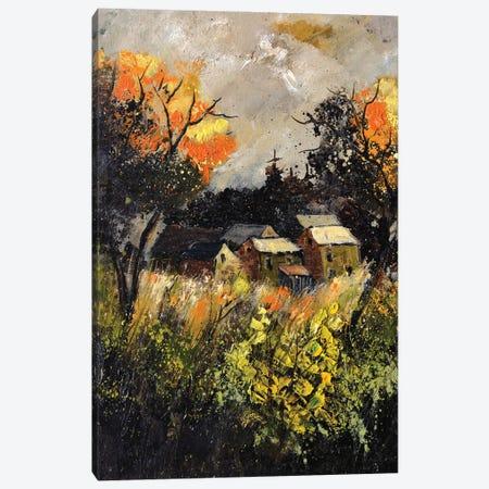 A few remote houses Canvas Print #LDT58} by Pol Ledent Canvas Artwork