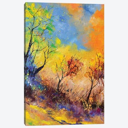 Autumn magic colours Canvas Print #LDT60} by Pol Ledent Canvas Print