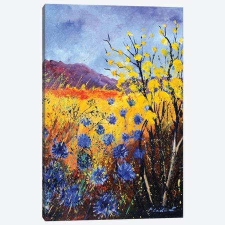 Blue cornflowers Canvas Print #LDT61} by Pol Ledent Art Print