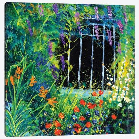 My garden's house in summer Canvas Print #LDT63} by Pol Ledent Canvas Print