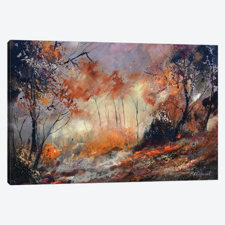Autumn in the wood Canvas Print #LDT67} by Pol Ledent Canvas Wall Art