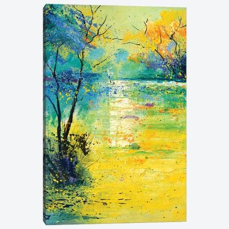 Quiet pond Canvas Print #LDT71} by Pol Ledent Canvas Wall Art