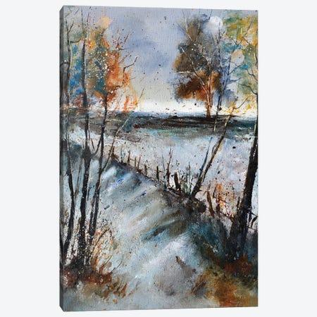 Winter path Canvas Print #LDT73} by Pol Ledent Canvas Artwork