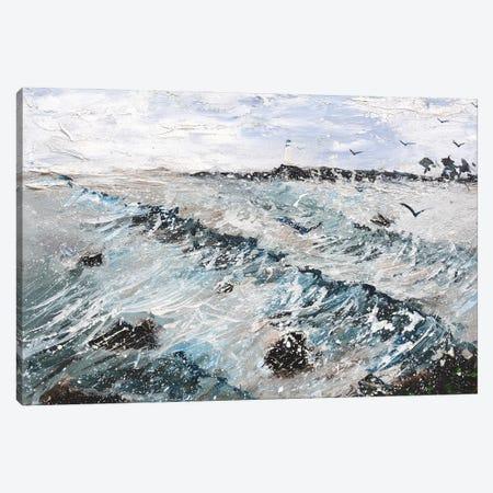 A rough wave Canvas Print #LDT75} by Pol Ledent Canvas Art Print