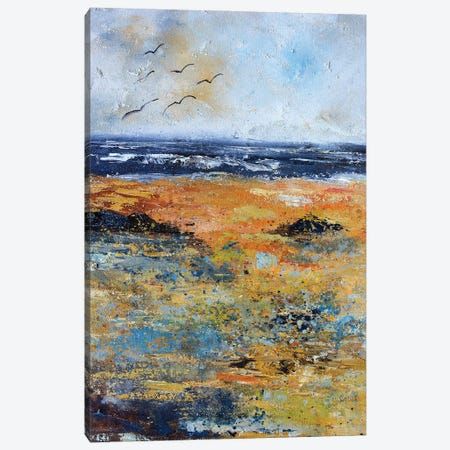 Seashore at the North sea Canvas Print #LDT79} by Pol Ledent Canvas Art