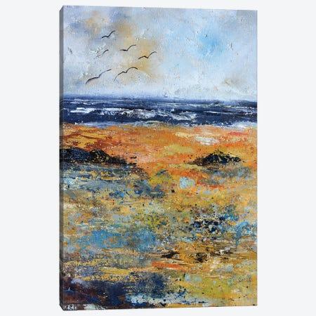 Seashore at the North sea Canvas Print #LDT79} by Pol Ledent Canvas Art
