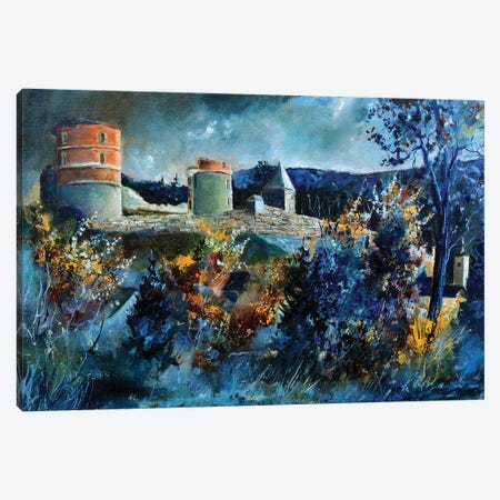 Medieval Castle Of Hierges Canvas Print #LDT7} by Pol Ledent Canvas Art Print