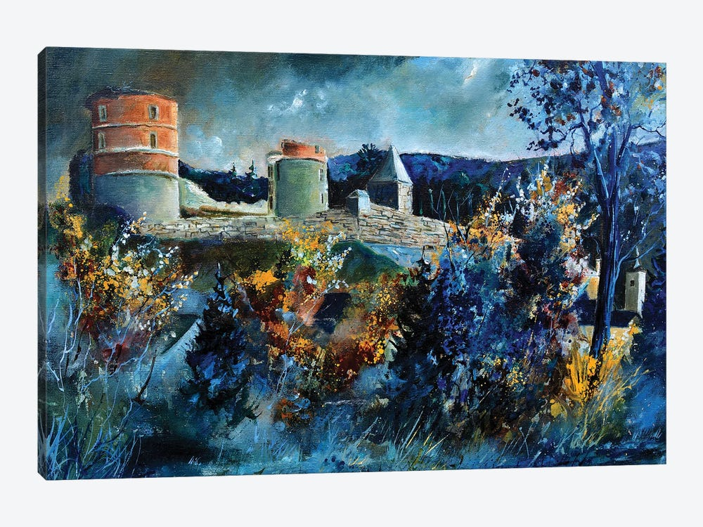 Medieval Castle Of Hierges by Pol Ledent 1-piece Canvas Wall Art