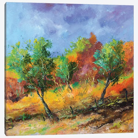 Orchard In Autumn Canvas Print #LDT95} by Pol Ledent Canvas Art Print