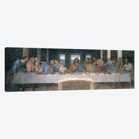 L'Ultima Cena (The Last Supper), Cropped Canvas Print #LDV1} by Leonardo da Vinci Canvas Art