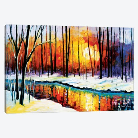 Winter Sun Canvas Print #LEA100} by Leonid Afremov Canvas Art
