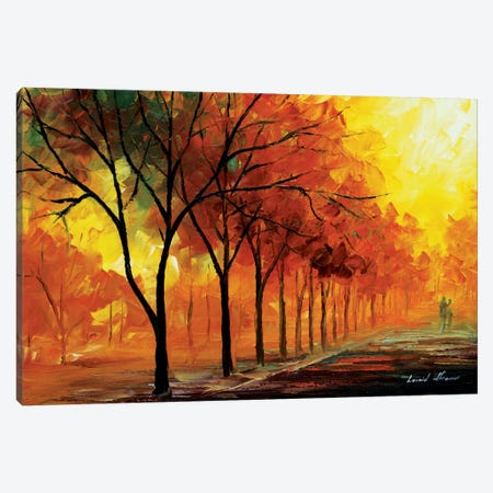 Yellow Fog Canvas Print #LEA101} by Leonid Afremov Canvas Artwork
