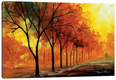 Yellow Fog Canvas Art Print