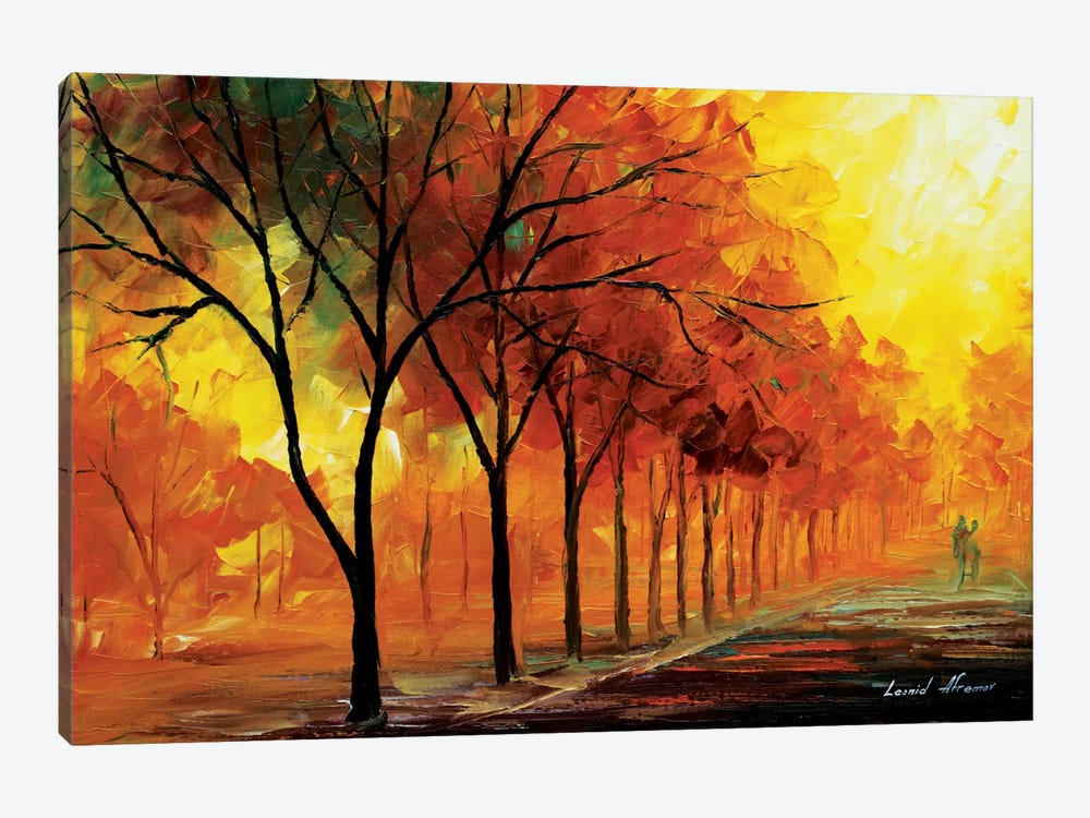 Yellow Fog by Leonid Afremov 1-piece Canvas Artwork