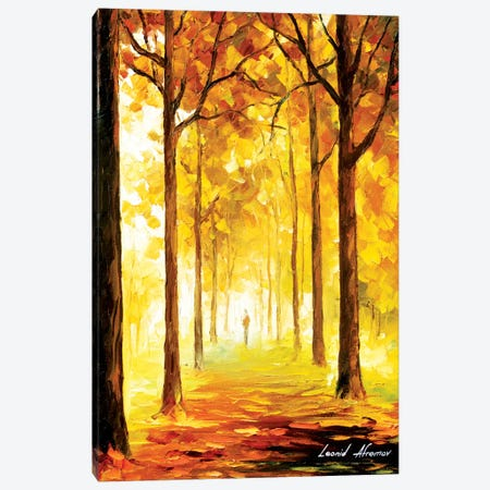 Yellow Mood Canvas Print #LEA102} by Leonid Afremov Canvas Wall Art