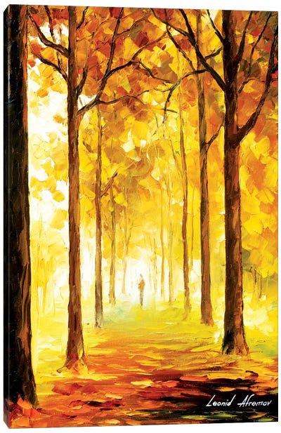 Yellow Mood Canvas Art Print