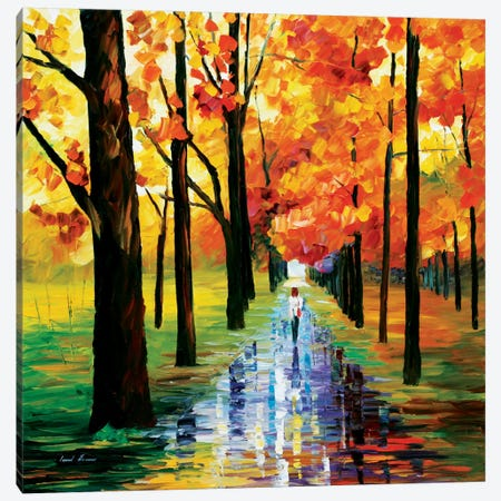 Yellow Rain Canvas Print #LEA103} by Leonid Afremov Canvas Wall Art
