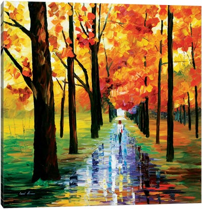 Yellow Rain Canvas Print #LEA103