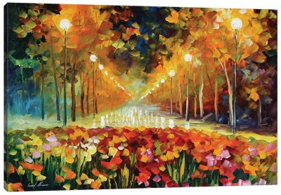 Alley Of Roses Canvas Print #LEA106