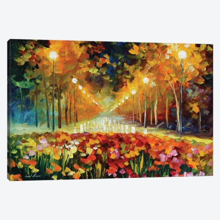 Alley Of Roses Canvas Print #LEA106} by Leonid Afremov Art Print
