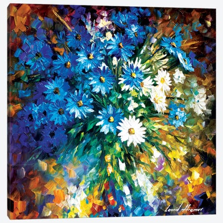 Bouqet Of Happiness Canvas Print #LEA10} by Leonid Afremov Canvas Artwork