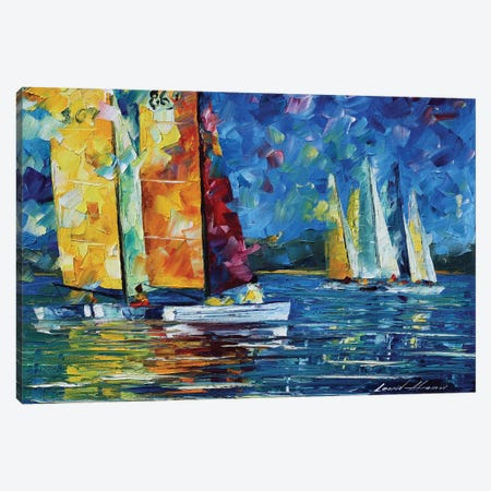 Close Encounter Canvas Print #LEA110} by Leonid Afremov Canvas Print