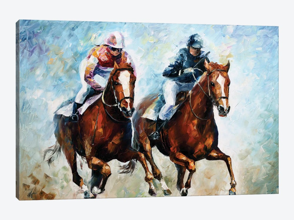 Close Race 1-piece Canvas Print