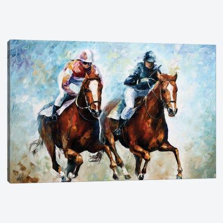 Close Race Canvas Print #LEA111} by Leonid Afremov Canvas Art Print