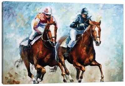 Close Race Canvas Art Print