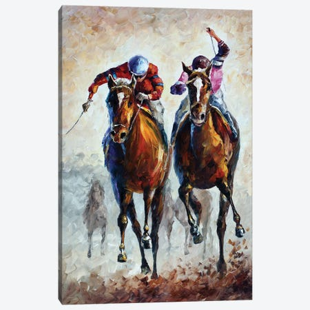 Contenders Canvas Print #LEA112} by Leonid Afremov Art Print