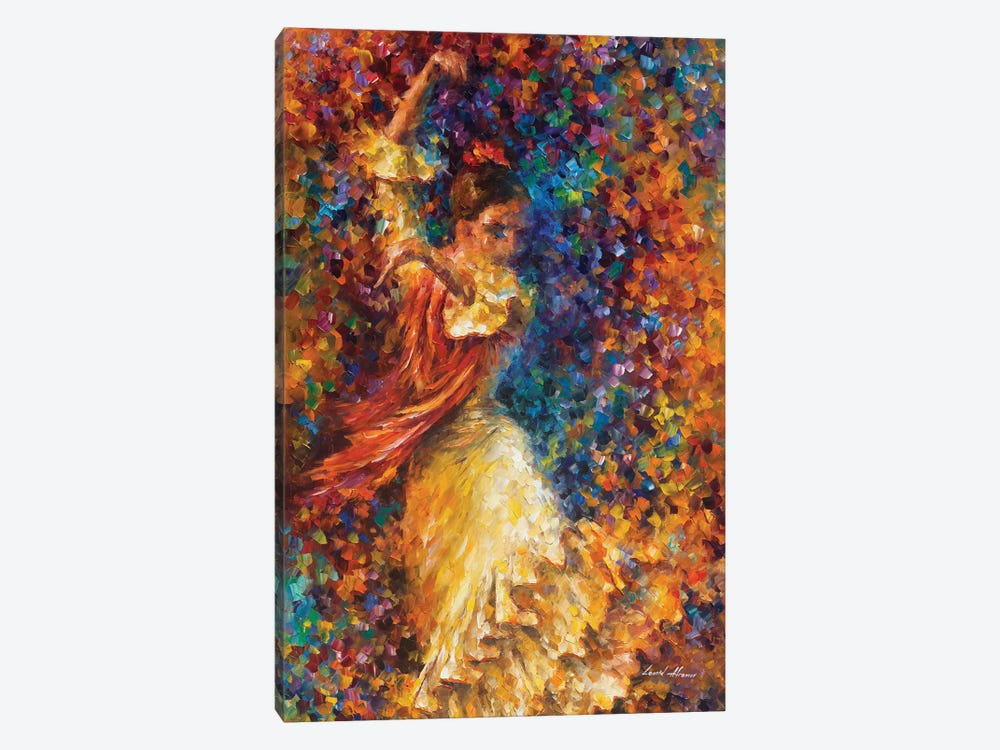 Flamenco and Fire by Leonid Afremov 1-piece Canvas Wall Art