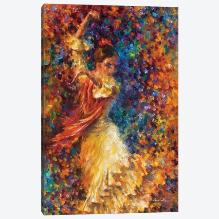 Flamenco and Fire Canvas Print #LEA116} by Leonid Afremov Canvas Art
