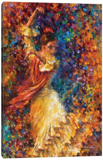 Flamenco and Fire Canvas Art Print
