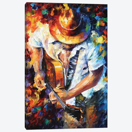 Guitar and Soul Canvas Print #LEA119} by Leonid Afremov Art Print