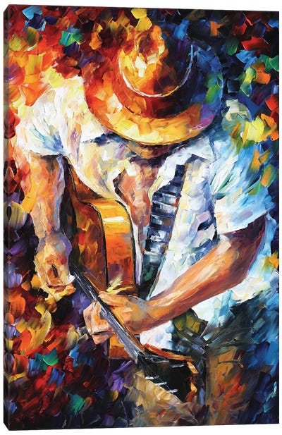 Guitar and Soul Canvas Print #LEA119