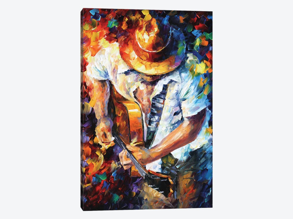 Guitar and Soul by Leonid Afremov 1-piece Canvas Print