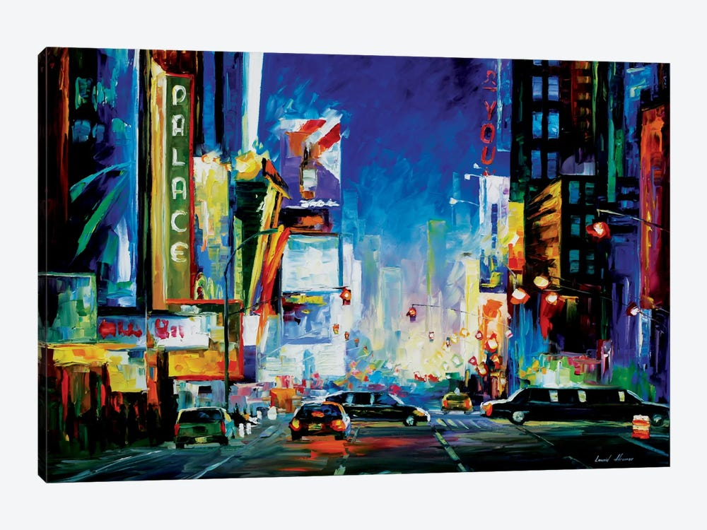 Broadway by Leonid Afremov 1-piece Canvas Art Print